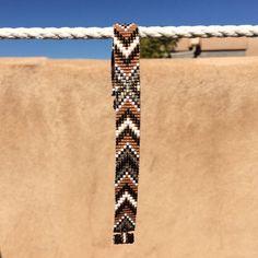 Annie Oakley Autumn Bead Loom Bracelet Bohemian by PuebloAndCo
