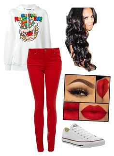 """""""Untitled #83"""" by raquel-soriano on Polyvore featuring beauty, Moschino, Paige Denim and Converse"""
