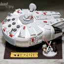 Lego Star Wars Millennium Falcon Cake