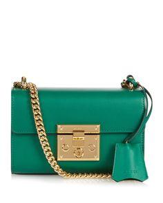 Gucci | Green Padlock Mini Leather Shoulder Bag | Lyst