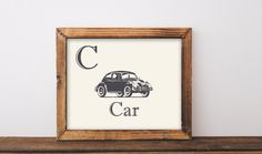 INSTANT DOWNLOAD. Vintage car printable by ShabbyMintChicParty