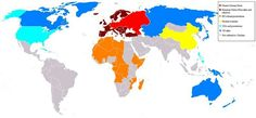 """World Map from the novel """"Fatherland"""", by Robert Harris...What if the Nazis were not deafeated in WWII...."""