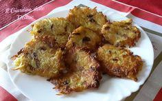 Le patate in frittella possono essere preparate con o senza uova, possono essere un buon antipasto od un originale secondo piatto leggero e un po insolito
