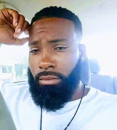Black Men With Beards Back Men With Beards Fine Black Men, Gorgeous Black Men, Handsome Black Men, Beautiful Men, Black Man, Gorgeous Gorgeous, Handsome Man, Black Men Haircuts, Black Men Hairstyles