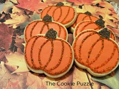 The Cookie Puzzle: Pumpkin Cookies...on different backgrounds