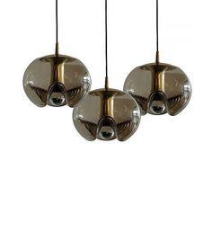 Peill + Putzler Set of Three Smoked Hanging Glass Lights ($3400)