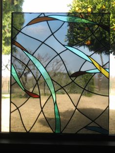 24 Panel Large Architectural Stained Glass Window