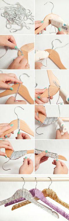 DIY - Sequin Wedding Hangers!