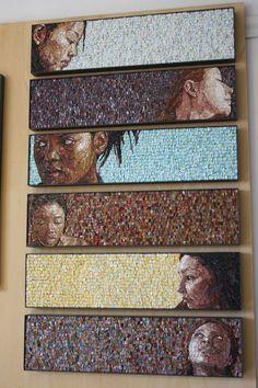 Mosaic portraits. The Mosaic School of Friuli, often called Spilimbergo.