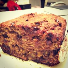 Healthy Banana Bread w/ Dark Chocolate and Walnuts