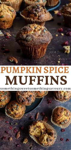 Who needs to go to that expensive coffee house? Make these Pumpkin Spice Muffins from the comfort of your own home! Soft, delicious muffins with pumpkin puree, dried cranberries, pecans and lots of Autumnal spices. #pumpkinspicemuffinsrecipe #pumpkinmuffins #pumpkinspicemuffinsfromscratch #pumpkinspicemuffinsrecipeuk Muffin Recipes, Baking Recipes, Breakfast Recipes, Dessert Recipes, Recipe Using Pumpkin, Pumpkin Recipes, Pumpkin Spice Muffins, Pumpkin Puree, Autumn Recipes Vegetarian