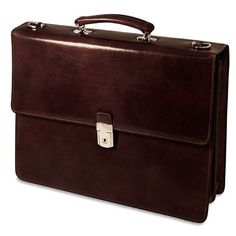 7f12eadaa2bf JACK GEORGES SIENNA DOUBLE GUSSET FLAP OVER LEATHER BRIEFCASE  jackgeorges   briefcase  business