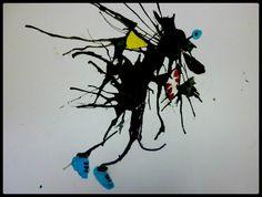 Monstres souffl s l 39 encre trac s au marqueur peinture - Enlever tache de gras sur papier ...