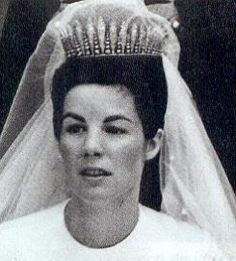 Countess Marie on her wedding day, wearing her mother-in-law's fringe tiara as something borrowed