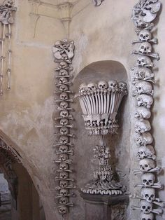 Kutna Hora Bone Church, Czech Republic    a Better picture of the place.  Somewhat morbid but the youtube video was well done.