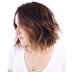 Sunkissed brunette chić.❤️ @xtina_lewis Hair color by me. Cut/styled by @anhcotran #beachyhair #summerhair #effortless #sunkissedbrunette #anjaburtonhaircolor #ramireztransalon