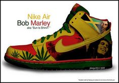 *Bob Marley* Crazy shoes. More fantastic pictures and videos of *Bob Marley* on: https://de.pinterest.com/ReggaeHeart/