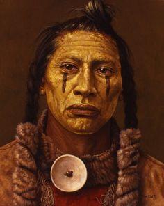 beautiful native american portraits | Native American Indian Portraits Paintings art work of Kirby Sattler ...