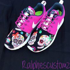 Sugar Skulls Custom shoes by RalphiesCustomz
