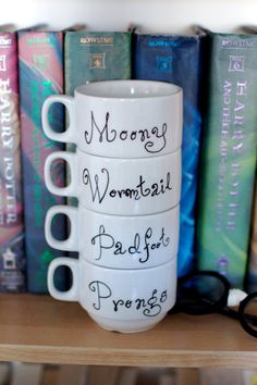 Harry Potter Marauders Stacking Mug Set. This would be a great gift, but I don't think I could part with them...