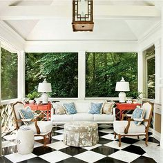 Southern living room of the day