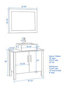 what is the standard height of a bathroom vanity vessel. Black Bedroom Furniture Sets. Home Design Ideas