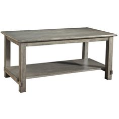 The serene gray of this pine coffee table reminds us of driftwood washed up on the shore. | $910