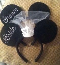Disney Bride And Groom Mickey Minnie Mouse Inspired Honeymoon Ears