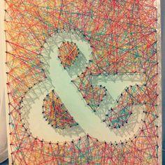 My own string art ampersand