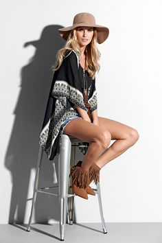 Kimono Leila - TrulyMine online na Halens. Ss16, Bohemian Style, Kimono, Rock, Womens Fashion, Skirt, Locks, Women's Fashion, The Rock