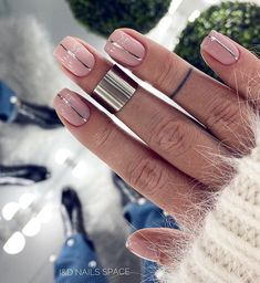 99 Beautiful Nail Art Design Ideas To Try In Summer Stylish Nails, Trendy Nails, Cute Nails, Minimalist Nails, Short French Nails, French Tip Nails, Glitter French Tips, Short Nails Art, Nagellack Trends
