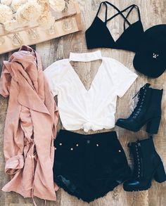 Ƒօӏӏօա ʍҽ @NoraIsabelle ƒօɾ ʍօɾҽ թíղs վօմ'ɾҽ ցօղղɑ ӏօѵҽ ♥️ Edgy Summer Outfits, Casual Outfits, Teen Fashion Outfits, Casual Summer, Cute Fashion, Outfits For Teens, Casual Dresses, School Outfits, Spring Outfits