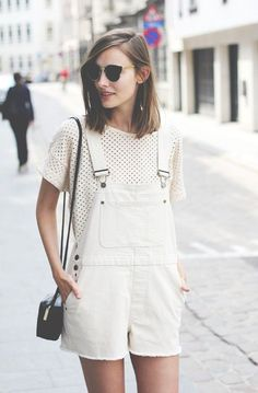 Rock a pair of white overalls this fall.