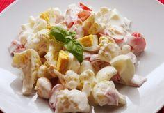 Laktató karfiolsaláta Veggie Recipes, Salad Recipes, Cooking Recipes, Hungarian Recipes, Diy Food, Pasta Salad, Potato Salad, Meal Prep, Food Porn