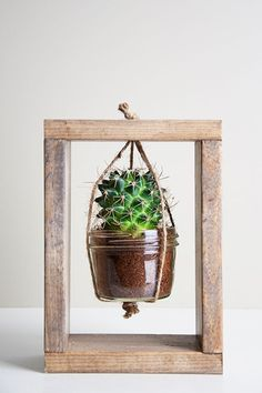 Creative DIY Planters - Cactus Planter Tutorial - Best Do It Yourself Planters and Crafts You Can Make For Your Plants - Indoor and Outdoor Gardening Ideas - Cool Modern and Rustic Home and Room Decor for Planting With Step by Step Tutorials http://diyjoy.com/diy-planters