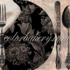 "Vintage kitchen art ""Victorian Table"" by Mindy Sommers and colorbakery.com Avail for art licensing as well as customization on tile and other home decor products.#victorian #art #vintage #artlicensing"