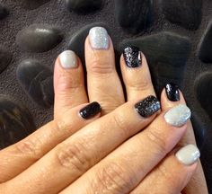 CND Shellac ... Using Black Pool and Cityscape for interesting contrast and CND sparkle for some pop!! #cnd#cndshellac