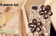 9 pieces crystal petal flowers alloy back diy bling phone deco Craft Supplies, Bling, Crystals, Deco, Phone, Flowers, Crafts, Jewel, Telephone