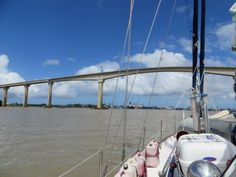 En Route to Guyana from Suriname on a sailboat