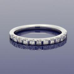 18ct Princess Cut Diamond Eternity Ring £995.00 Eternity Ring Diamond, Gold Art, Princess Cut Diamonds, Wedding Bands, Metal, Bracelets, Rings, Jewelry, Jewlery