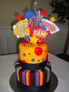 Superman cake...