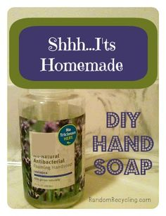Make your own hand soap using castille soap. Super cheap and non-toxic. #DIY #homemade #frugal