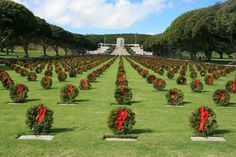 National Memorial Cemetery of the Pacific aka Punchbowl Cemetery - Honolulu,  Hawaii