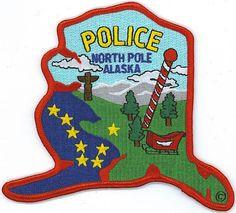 North Pole (Alaska) PD Police Patch  ★。☆。JpM ENTERTAINMENT ☆。★。