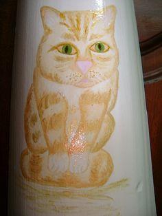 Gato pintado por Teresa