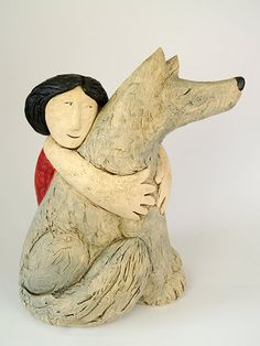 Ceramics by Paul Smith at Studiopottery.co.uk - 2010. _Faithful Friends_   32cm h x 30cm w     hand-built clay £650