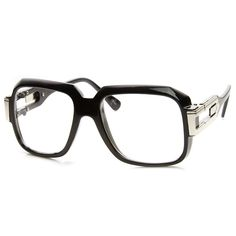 Large Classic Retro Square Frame Hip Hop Clear Lens Glasses