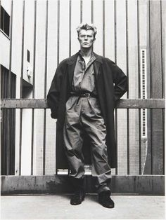 Bowie in a jumpsuit