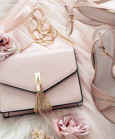 blush + gold sling bag