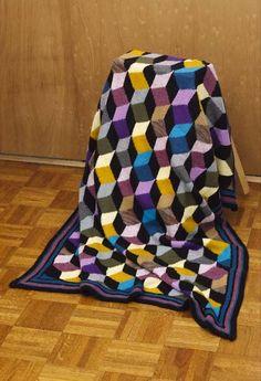 The New Tumbling Blocks Knit Pattern